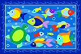 "LA Rug Olive Kids Somethin' Fishy Rug 19""x29"""