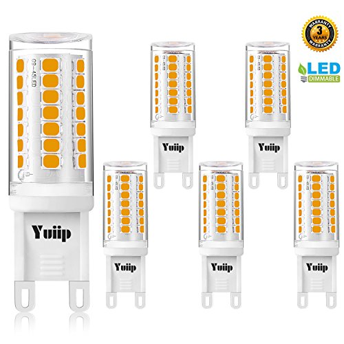 G9 Led Bulb Dimmable Warm White 3000K G9 Light Bulbs AC 120V 3W Bi-Pin Base G9 Bulbs 35W Halogen Replacement for Chandelier, Wall Sconce 5 (Chandelier Replacement)