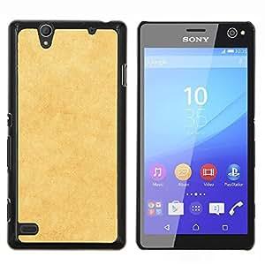 For Sony Xperia C4 Case , Textura amarilla- Diseño Patrón Teléfono Caso Cubierta Case Bumper Duro Protección Case Cover Funda