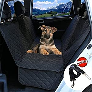 EZONEDEAL Dog Car Seat Covers,Dog Seat Cover Pet Seat Cover for Cars, Trucks, and SUV – Black, Waterproof, Hammock… Click on image for further info.