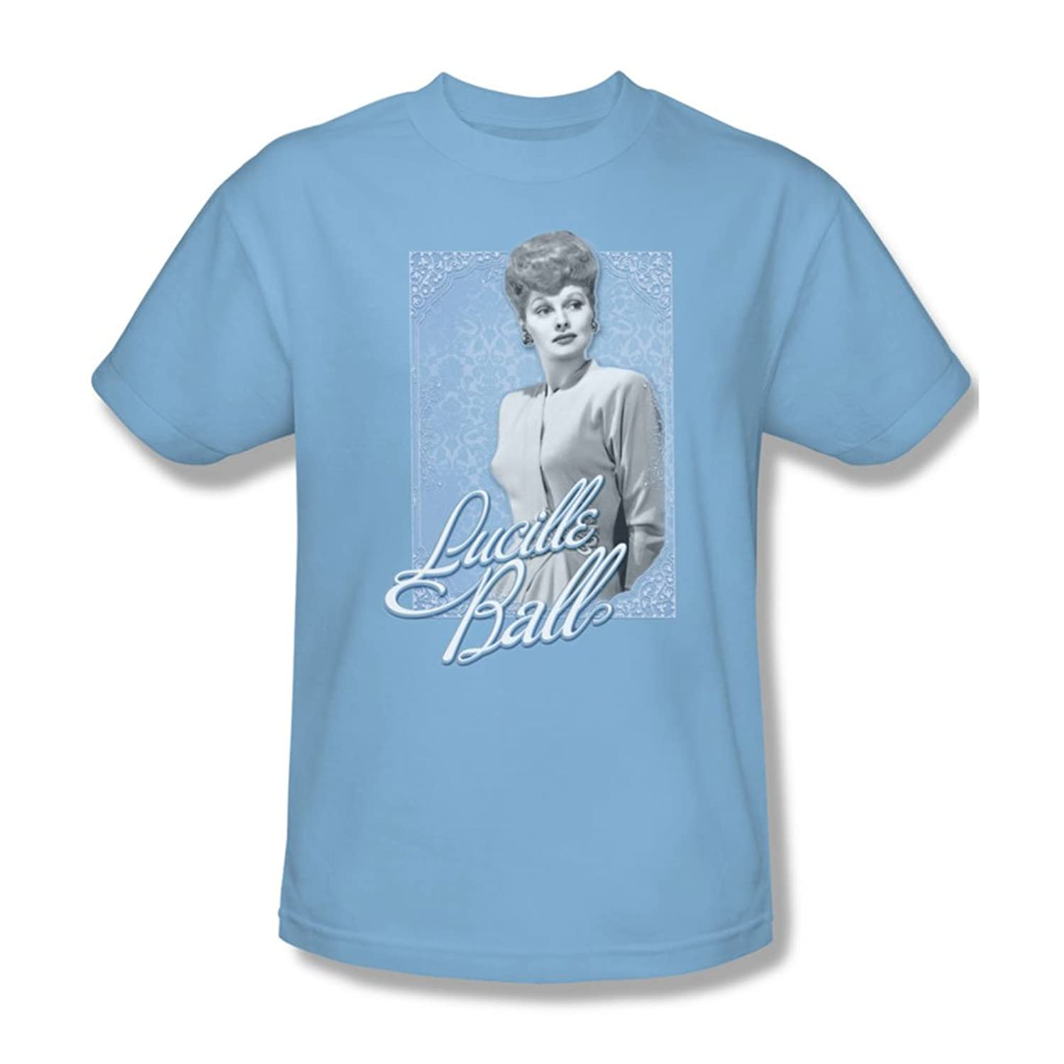I Love Lucy - Mens Blue Lace T-Shirt In Light Blue