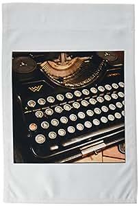 3dRose fl _ 29072_ 1Continental máquina de escribir bandera de Jardín, 12por 18pulgadas