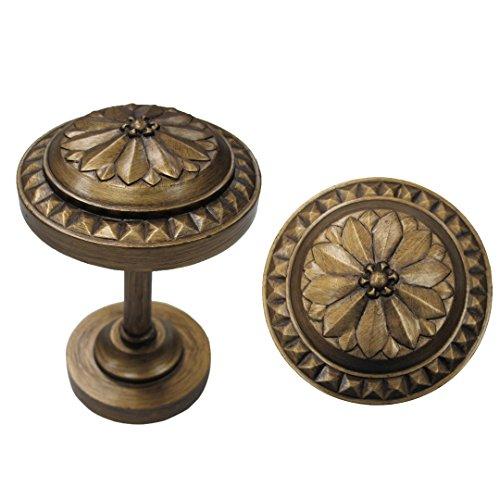 Urbanest Colette Decor Drapery Medallion Holdback, 2 Pcs (Renaissance - Drapery Holdbacks Medallion