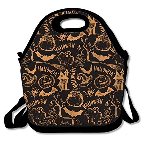 Sketch Halloween Health and Safety Food Bag Ms. Insulation Fashion Waterproof Portable Meal Outdoor Fashion Handbag