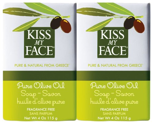 Kiss My Face Moisturizing Bar Soap for All Skin Types - Pure Olive Oil - 4 oz - 2 pk