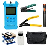 YaeTek Fiber Optic FTTH Tool Kit with FC-6S Cleaver Optical Power Meter Visual Finder