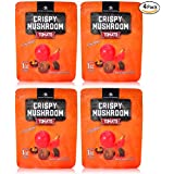 Shiitake mushroom crisps, Crispy Mushroom, Low fat snack pack, Crunchy healthy, Vegetable crisps, Mushroom snack, vegetable snacks, healthy crunchy snacks, mushroom chips snacks, Pack of 4