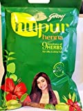 Godrej Nupur Henna Natural Mehndi for Hair Color with Goodness of 9 Herbs 3 Pack with 400 g in Each Packet (3 x 400 g / 3 x 14.10 oz)