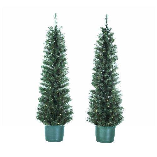 Kurt Adler 5-Foot Pre-Lit Potted Tree Set (Set of 2 Trees) (Un-lit Trees)