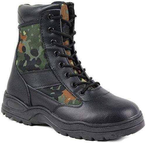 McAllister Security Einsatzstiefel verschiedene Outdoor Stiefel Schnürstiefel ArmyStiefel verschiedene Einsatzstiefel Ausführungen Flecktarn 1f9c48