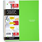 Five Star Wirebound Notebook, 1-Subject, 100 Wide-Ruled Sheets, 10.5 x 8 Inch Sheet Size, Lime (72122)