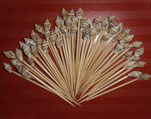 100 Seashell Toothpicks for