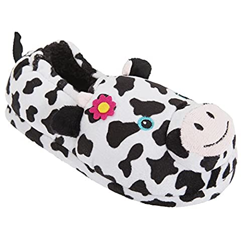 Childrens/Kids Big Girls 3D Animal Design Slippers