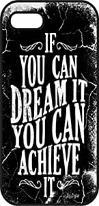 iphone 6 Plus (5.5 in) case - If you can dream it you can achieve it - Black Plastic Protective Case - Inspirational & Motivational Life Quotes