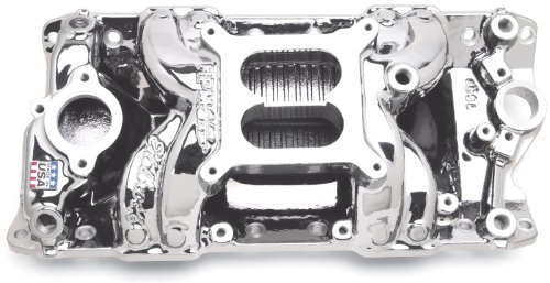 Edelbrock 75014 EnduraShine Performer RPM Air-Gap Intake Manifold - Edelbrock Rpm Air Gap Intake