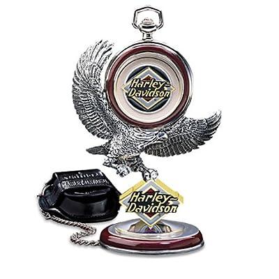Franklin Mint Harley Davidson Electra Glide Pocket Watch Set B20XR96 - Birthday / Anniversary / Christmas Gift Item: Toys & Games
