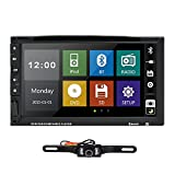 HIZPO 7 Inch HD Touch Screen Double 2 DIN Car Stereo DVD Player Bluetooth IPod MP3 CD+Reverse Camera