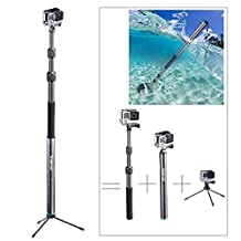 "Smatree SmaPole S3C Carbon Fiber Detachable Extendable Floating Pole for GoPro Hero 5/4/3+/3/2/1/Session (12.5""-39.5"")"