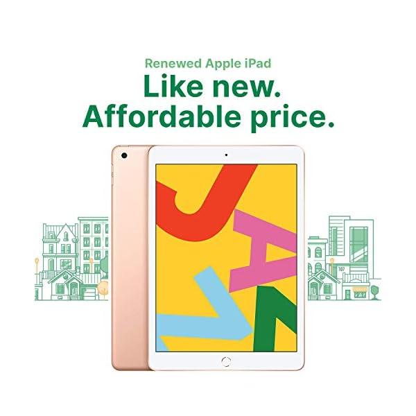 "Apple iPad | 10.2"" | 7th GEN | WI-FI | 32GB | Gold | 2019 | (Renewed) 2"