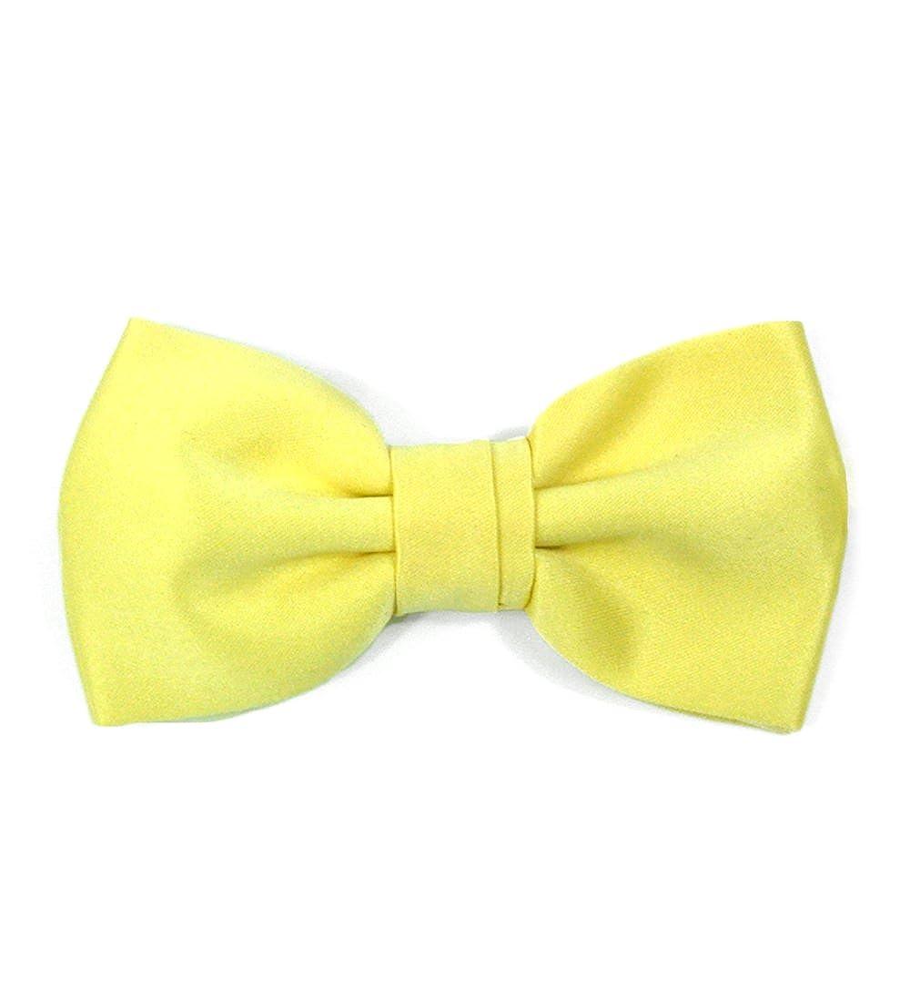 Boys Summer Yellow Adjustable Evening Tuxedo Bow Tie and Hankie