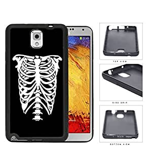 Rib Cage Skeleton Black And White Rubber Silicone TPU Cell Phone Case Samsung Galaxy Note 3 III N9000 N9002 N9005