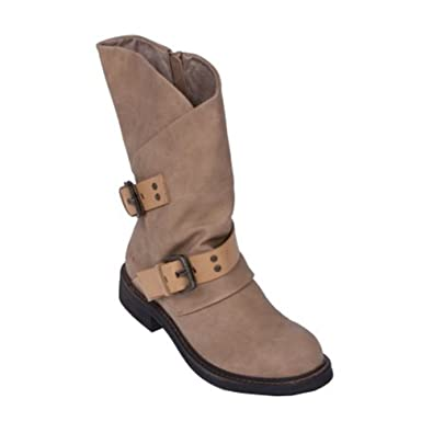 Amazon.com | Blowfish Women's Forta Sand Texas PU/Pisa PU Boot 6.5 M |  Mid-Calf