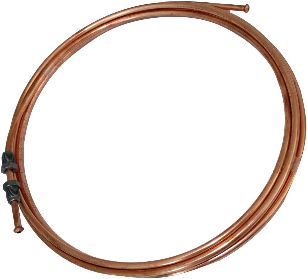 AERZETIX 120cm Tubo per freno in rame /Ø4.76mm con raccordi M10x1//M10x1