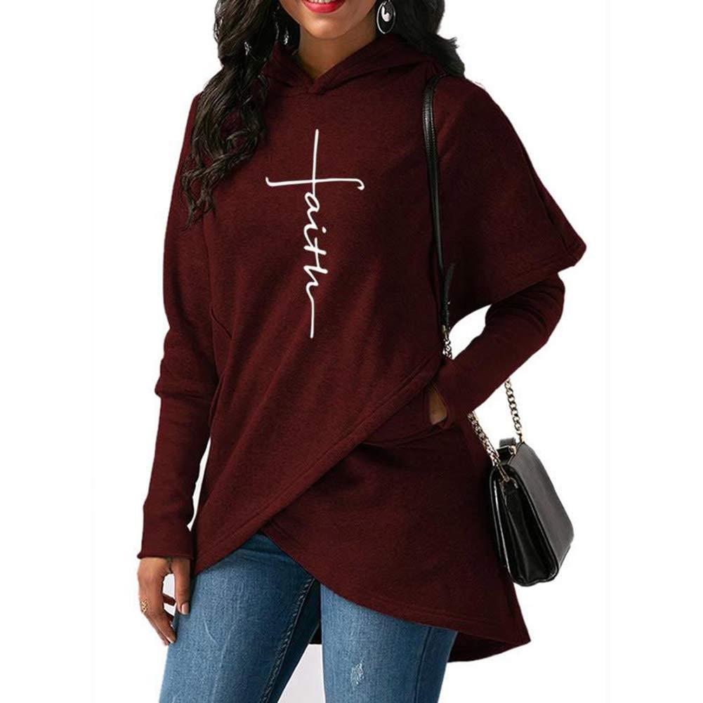 Bestag Faith Hoodie Letter Printed Sweatshirt Hoodies for Women