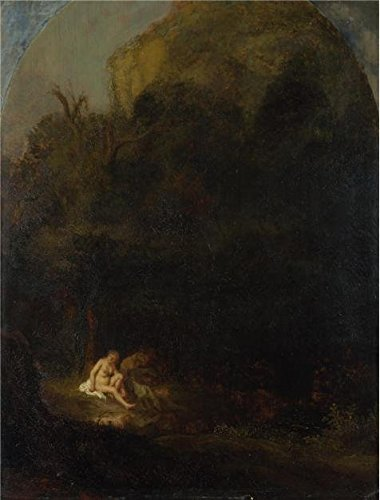 Oil Painting 'Follower Of Rembrandt - Diana Bathing Surprised By A Satyr,17th Century' Printing On Perfect Effect Canvas , 10x13 Inch / 25x33 Cm ,the Best Powder Room Decor And Home Decoration And Gifts Is This Imitations Art DecorativeCanvas Prints