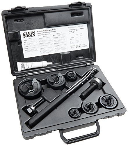 Wrench Klein Box Ratcheting (Klein Tools 53732 Knockout Punch Set with Wrench)