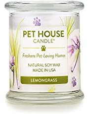 One Fur All 100% Natural Soy Wax Candle, 20 Fragrances - Pet Odor Eliminator, Up to 60 Hours Burn Time, Non-Toxic, Eco-Friendly Reusable Glass Jar Scented Candles - Pet House Candle