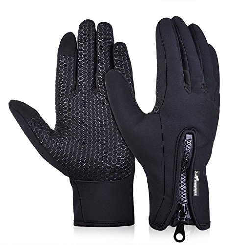 SNOWHALE All Weather Touchscreen Gloves for Men and Woman,Best for Cold Weather Winter Outdoor Sports Gloves (XL, Black)