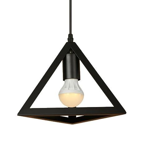 E27 luces colgantes geométricas de la vendimia industrial retro luces colgantes de hierro ajustable Cafetería dormitorio