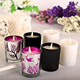 Scented Candles Pack 6 Aromatherapy Set Fragrance Soy Candles, Gardenia, Lemongrass, Pine, Vanilla, Lavender, Peppermint Soy Candle Wax Stress Relief