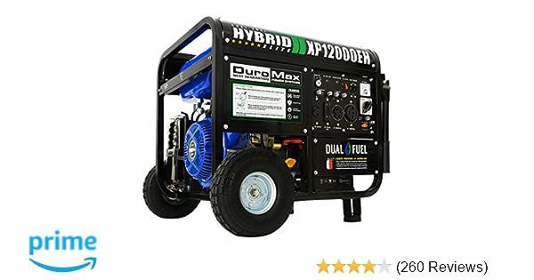 Amazon.com: DuroMax XP12000EH Dual Fuel Portable Generator: Garden on