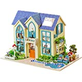 Flever Dollhouse Miniature DIY House Kit Creative Room With Furniture For Romantic Artwork Gift (Romantic Garden House)