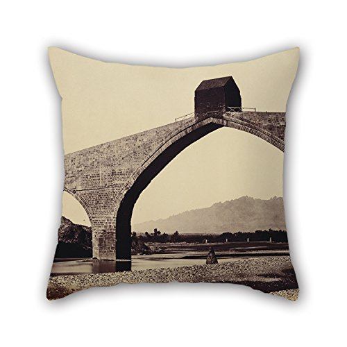 Throw Pillow Covers Of Oil Painting Charles Clifford - Catalonia - Devil's Bridge, Martorell 20 X 20 Inch / 50 By 50 Cm,best Fit For Her,gf,wedding,christmas,valentine,dining Room Each Side
