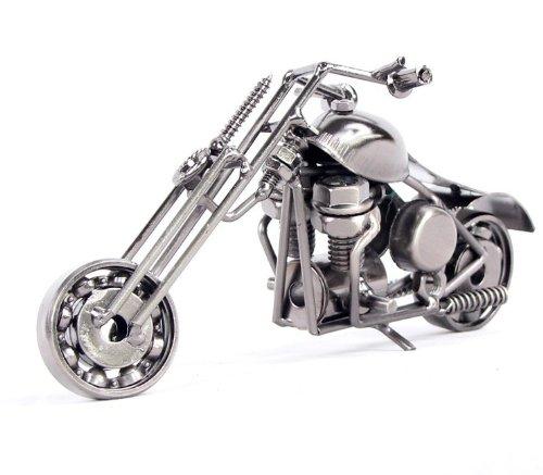 (Fu's store (TM) Retro Harley Davidson Model Collectible Model Home Décor Collective Edition Gift M31 (M31-silver))