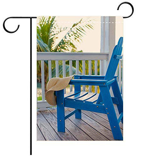 BEICICI Custom Personalized Garden Flag Outdoor Flag Adirondack Chair Decorative Deck, Patio, Porch, Balcony Backyard, Garden or Lawn ()