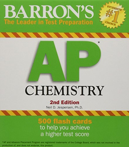 Barron's AP Chemistry Flash Cards, 2nd Edition