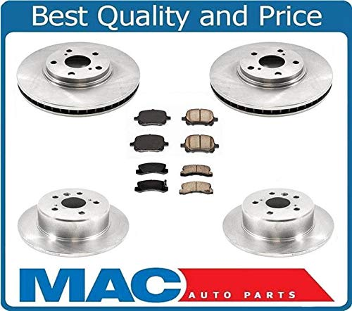 Front Rear Brake Rotors & Ceramic Pads Fits For 1999-2001 Lexus RX300 4X4 All Wheel Drive
