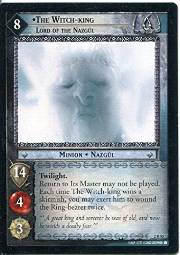 Lord Of The Rings CCG Card MoM 2.R85 The Witch King, Lord Of The (Nazgul Witch King)