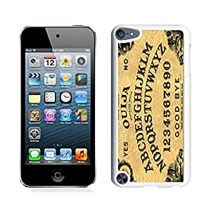 Newest iPod Touch 5 Case ,Ouija Board White iPod Touch 5 Screen Case Unique And Durable Custom Designed Cover Case