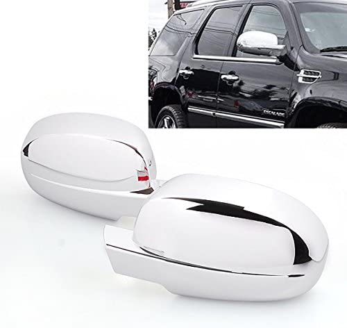 For Chevy Suburban 2007-2013 4Drs Handle W//O Pskh+Lower Mirror 2Pc Chrome Covers