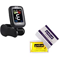 Eno Music Violin Viola Tuner and Rosin Kit for Violinist Beginners' Kit with Clip on Tuner Suitable for Viola, Cello, Bass