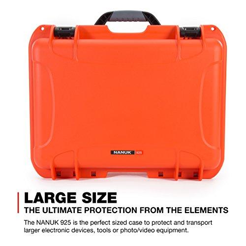 Nanuk 925 Waterproof Hard Case with Padded Dividers - Orange