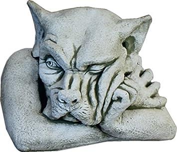 DEGARDEN AnaParra Figura Decorativa Gargola de hormigón-Piedra para jardín o Exterior 40X34cm.: Amazon.es: Jardín