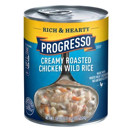 Progresso Rich & Hearty Soup, Creamy Chicken Wild Rice, 18.5-Ounce Cans (Pack of (Creamy Chicken Wild Rice)