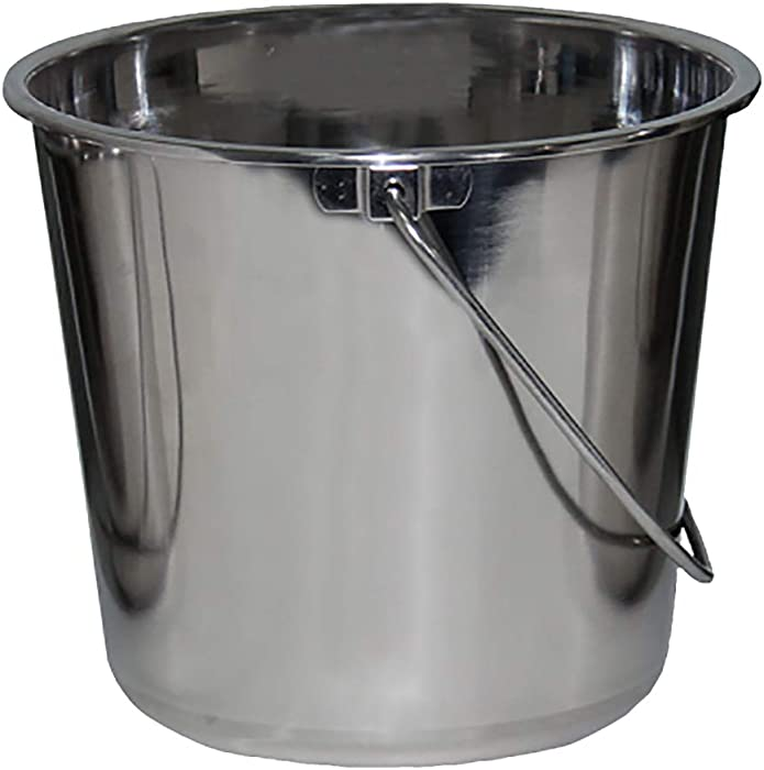 Stainless Steel Buckets for Pets, Cleaning, Food Prep