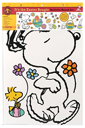 Eureka Peanuts It's the Easter Beagle Bulletin Board Sets (847685)